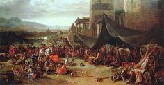 Sacco di Roma _  6 maggio 1527 | Il sacco di Roma avvenne da parte delle truppe dei lanzichenecchi, i soldati mercenari tedeschi arruolati nell'esercito dell'Imperatore Carlo V d'Asburgo.  [Charles-Philippe Larivière (1622-1674)  Sacco di Roma del 1527]