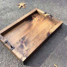 Rustic serving tray, Serving tray, Wood tray, Table tray, Tray, Rustic, Customizable by SMCRusticDesigns on Etsy https://www.etsy.com/listing/255482595/rustic-serving-tray-serving-tray-wood