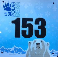 2014 Polar Bear 5K (Denver, CO). Jan 2014 Race Bibs, Flip Clock, Bouldering, Polar Bear, Denver, Racing, Prints, Running, Auto Racing