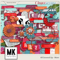 All Growed Up - Mom Digital Scrapbook by Designs by Mandy King  #digiscrap #digitalscrapbooking #memorykeeping #mandyking