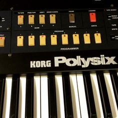Love the Korg Polysix through this Roland RE-501 Chorus Echo: very classy. The 501 is gone but we have a 555 ready now and another scruffier 501 coming soon. We have no less than two Polysixes serviced and ready to go.