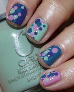 Polka Dot Mani! Use any 4 colors #spring #nails