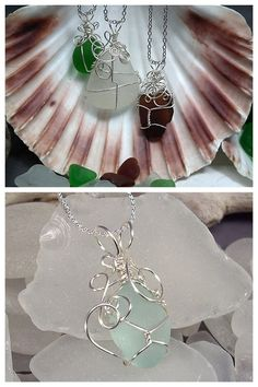 DIY Wire Wrapped Beach Glass Tutorial. Really detailed written and video tutorial by Gayle Bird Designs here. *Found at Dollar Store Crafts here which has good info on where to buy tools and beach glass. You could also use this technique on the lenses of glasses which I posted here.
