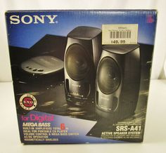 Sony SRS-A41 Active Mega Bass Speaker System w/original box Read Description #sony