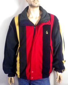06aeaef1f4d vtg euc Nautica Men 039 s Bright Colorblock Reversible Puffy Fleece Jacket  XL