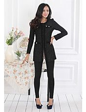 Vrouwen Tweed Long Cardigan – EUR € 39.59