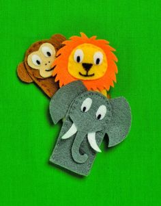 How to make Zoo Animal Finger Puppets
