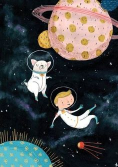 Children's Illustration Agency - Illustration Agency - Illustrators - Will Bonner Astronaut Illustration, Children's Book Illustration, Digital Illustration, Watercolor Illustration Children, Small Sketchbook, Cute Cartoon Wallpapers, Looks Cool, Art Lessons, Illustrators