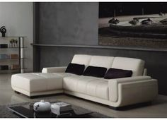 Elliot - Modern White Leather Sectional Sofa