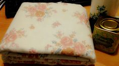 Vintage rose fabric in pale color,,,what a shabby day