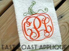 ORNATE PUMPKIN FRAME by EastCoastApplique on Etsy, $4.00