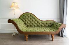 Repaired Green Couch U2014 Furniture Repair In Denver, CO