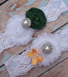 wedding garter  / PACKERS INSPIRED  /  by FallenStarCoutureInc, $24.99