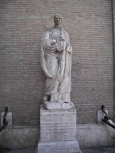 Abbot Luigi - The statue is a late Roman sculpture of a standing man in a toga. Named for an abbot from the nearby Chiesa del Sudario