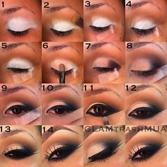 make up look with the help of scotch tape