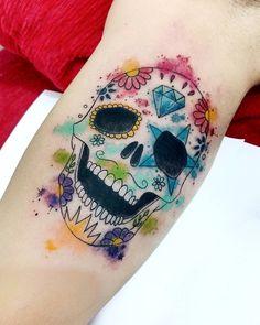 Sugar skull by Léo Dionizio Tattoo