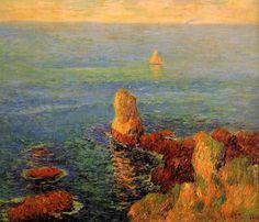 Calm Sea at L'Ile de Groux by Henri Moret #art