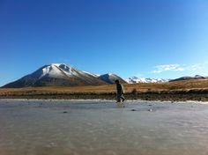 New Zealand Hakatere Conservation frozen pond