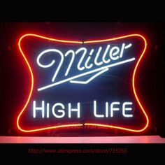 Miller High Life Bar Beer Pub Store Display Garage New Neon Light Sign 17*14 Impact Neon Sign light Bar Pub Light Fast Shipping #Affiliate