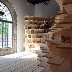 an art exhibition / library