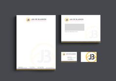 Jan de Blanken 'Shovel en kraanmachinist' // Logo, envelop en briefpapier ontwerp (Huisstijl/Stationery) By Studio de Leeuw (Ester de Leeuw)