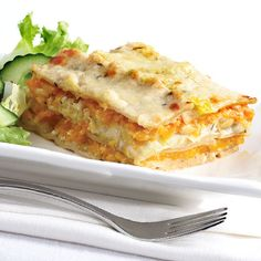 Squash and Leek Lasagna | Meatless Meals | Food | Disney Family.com