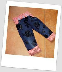 Kinderhose aus alter Erwachsenenhose / Children's pants made from old pair of trousers Upcycling
