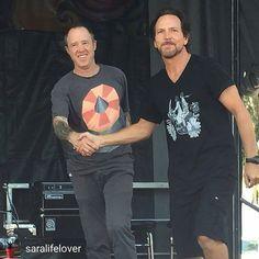 Eddie Vedder &Jack Irons at Ohana Festival in Dohert State Park Beach in…