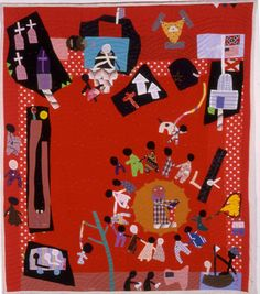 Yvonne Wells Quilts.   African American folk art of story telling through her quilts.