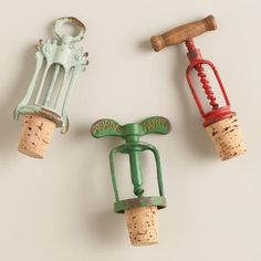 Vintage-Style Corkscrew Wine Stoppers at Cost Plus World Market >> #WorldMarket Kitchen Decor, Home Decor, Tips