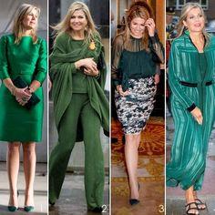 "131 Me gusta, 4 comentarios - ModekoninginMáxima (@modekoninginmaxima.nl) en Instagram: ""4 outfits: green & new #queenmaxima #queenmaximafashion #queen #maxima #Máxima #Natan #Taminiau…"""