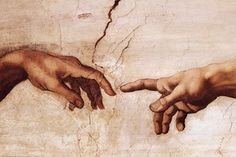 """""""So God created man in His own image, in the image of God created He him; male and female created He them."""" Genesis 1:27   The Creation of Adam by Michelangelo"""