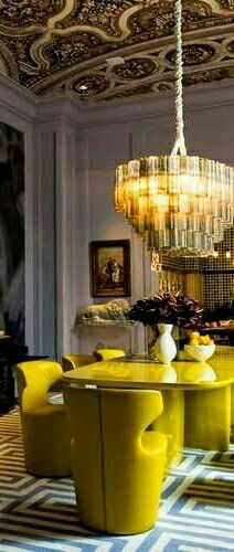 Decor, Dining, Yellow Home Decor, Ceiling Lights, Ceiling, Home Decor, Light, Chandelier, Dining Room