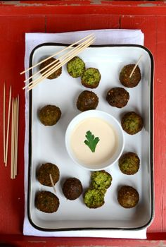 Yes, its been a while since we've done falafel. Green Falafel - Mediterranean Chickpea Fritters