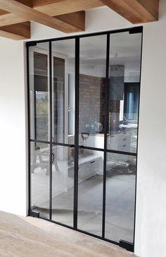 Drzwi Loftowe - Industrialne | Drzwi wewnętrzne - zabudowy szklane - drzwi loft - podłogi Door Mirrors, Diy Home Crafts, Loft, Doors, Nice, Inspiration, Furniture, Home Decor, Houses