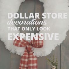 Easy DIY Dollar Store Holiday Decorations                                                                                                                                                                                 More