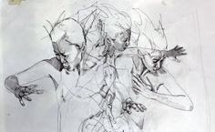 Billedresultat for simon birch art Ap Drawing, Life Drawing, Figure Drawing, Simon Birch, Human Figure Artists, Overlapping Art, Art Du Croquis, Tinta China, Art Et Illustration