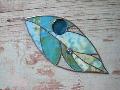 Stained Glass Large Leaf Window Ornament by RenaissanceGlass, $85.00