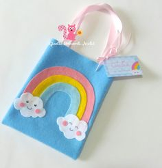 Rainbow Birthday, Unicorn Birthday Parties, Unicorn Party, Felt Crafts, Diy And Crafts, Crafts For Kids, Arts And Crafts, Cloud Party, Sewing Projects