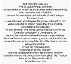 Whois Mohammed( peace be upon him)