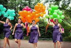 here's an idea: have each member of the bridal party enter the reception with balloons to add to the dance floor! We could have the balloons in the wedding colors. Instant decorations for the dancing tent! Instead Of Flowers, Alternative Bouquet, Wedding Balloons, Our Wedding, Wedding Stuff, Wedding Inspiration, Wedding Ideas, Wedding Colors, Real Weddings