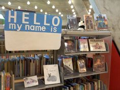 """hello my name is"" ... for a biography/autobiography display"