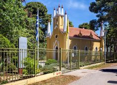 Visit the chapel of St. Andrew, which is the only Gothic Orthodox church in Greece Athens, Acre, Greece, Gothic, Country, City, Greece Country, Goth, Rural Area