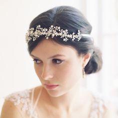 TINY DANCER ENAMEL BRIDAL HAIR VINE | Erica Elizabeth Designs wedding accessories & womens fashion crowns