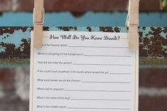 Here are some cute bridal shower games to include in your party festivities. Some of them are obvious, but no less exciting! This one is super cool!