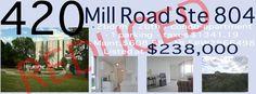 Price Reduction!!!! 420 Mill Road Suite 804, Markland Woods, Etobicoke, Mississauga, Rathburn & Mill Rd