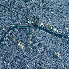 7/14/2015 Paris, France 48.855362595°, 2.312300696°   High-level Overview of Paris. From this vantage point you can see many of the city's famous landmarks such as the Arc De Triomphe (top left), the Grand Palais (center), and the Jardin des Tuileries (center right).
