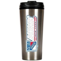 NHL New York Rangers 16-Ounce Stainless Steel Travel Tumbler by Great American Products. $21.99. Show off your pride by drinking from this Officially Licensed Stainless Steel Travel Mug with hand-crafted metal team logo.. Save 12%!