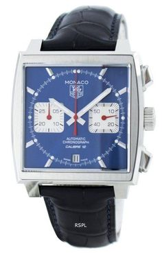 We are the leader in watch sales online Tag Heuer Monaco Automatic Chrongraph Calibre 12 Swiss Made Men's Watch has Stainless Steel Case, Leather Strap, Automatic Movement, Calibre 12 Men's Watches, Luxury Watches, Watches For Men, Latest Watches, Popular Watches, Fashion Watches, Watch Storage Box, Leather Watch Box, Swiss Army Watches