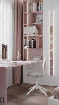 Small Room Design Bedroom, Study Room Design, Study Room Decor, Room Ideas Bedroom, Home Room Design, Home Office Design, Interior Design Living Room, Diy Bedroom Decor, Home Decor